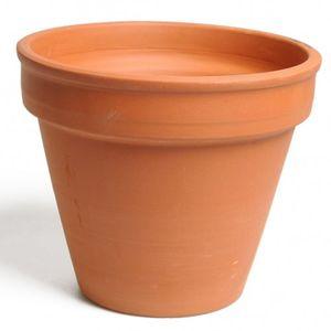 Pot de fleurs, terre cuite, Ø 23,5 cm
