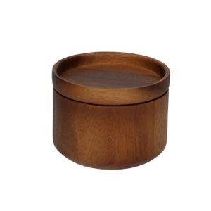 Pot met deksel, acaciahout, Ø 10 cm