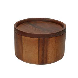 Pot met deksel, acaciahout, Ø 14 cm
