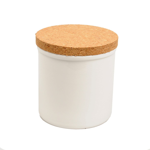 Pot met kurken deksel, porselein, 11 x 11 cm