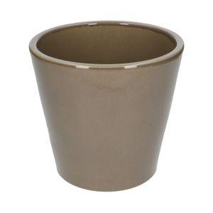 Pots de fleurs, céramique, taupe, Ø 20 cm