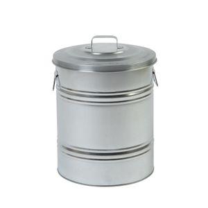 Poubelle, modèle droit, zinc, 30 L