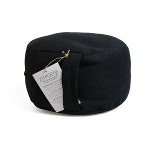Pouf ergonomique, coton, noir