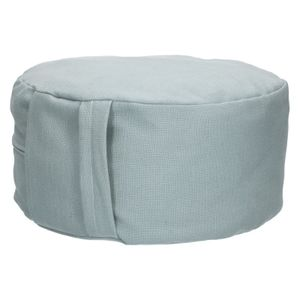 Pouf ergonomique, coton, vert-de-gris