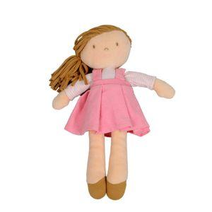 Poupée, robe rose, 32 cm