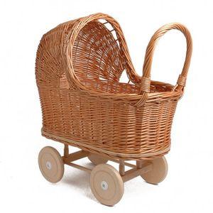 Puppenwagen, Schilf, 3+