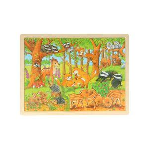 Puzzel bosdieren, hout, 3+