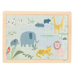 Puzzle, bois, safari, 3+