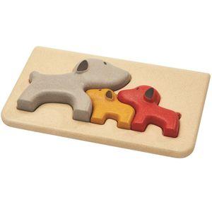 Puzzle chine, bois d'hévéa, 18m+