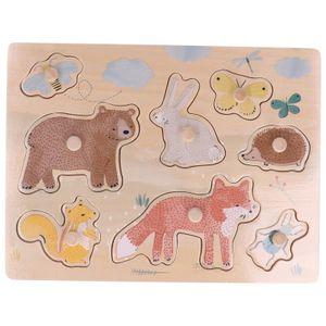 Puzzle en bois, les animaux de la forêt, 12m+