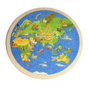 Puzzle monde, rond