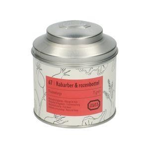 Rabarber & rozenbottel, Fruitmelange, blik, 75 gram