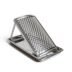 Raspel/Reibe mit Ständer und Auffangplatte, Edelstahl