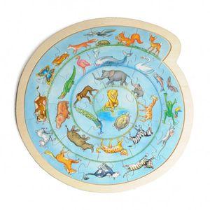 Rundes Puzzle mit Tieren