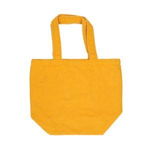 Sac cabas, coton bio, ocre jaune, 44 x 35 cm