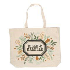 Sac, Dille & Kamille, coton bio, feuilles et brindilles, grand format
