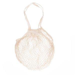Sac filet de pêche, coton, blanc cassé, 35 x 35 cm