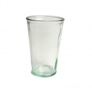 Saftglas, grünes Recyclingglas, konisch