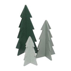 Sapins de Noël 3D DIY, bois, lot de 3, 15, 22 & 30 cm