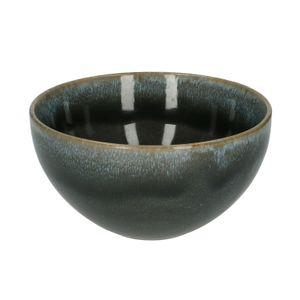 Schaal reactieve glazuur, steengoed, blauw, Ø 18 cm
