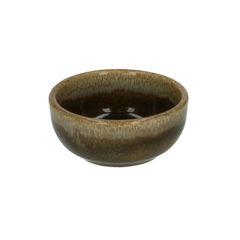 Schaal, reactieve glazuur, steengoed, blauw, Ø 7,5 cm