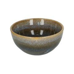 Schaal, reactieve glazuur, steengoed, blauw, Ø 9,5 cm
