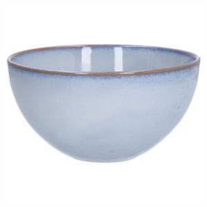 Schaal reactieve glazuur, steengoed, grijs, Ø 18 cm