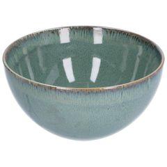 Schaal reactieve glazuur, steengoed, groen, Ø 18 cm