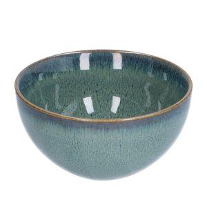 Schale, reactive Glasur, Steingut, grün, Ø 13,5 cm