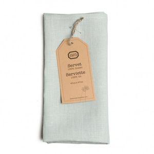 Servet, 100% linnen, celadon