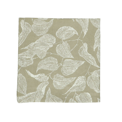 Servet, bio-katoen, groen met bladmotief