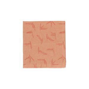 Servet, bio-katoen, terra met vogelprint