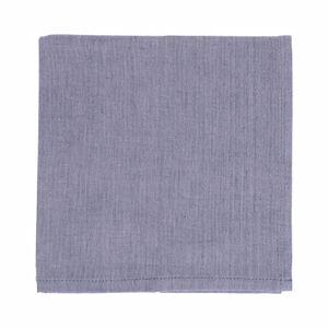 Servet, katoen, blauw gemêleerd, 40 x 40 cm