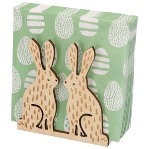 Servethouder konijnen, hout