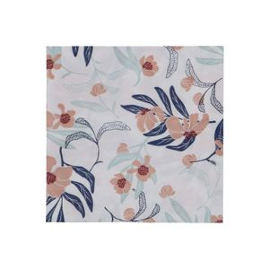 Servetten, papier, roze/blauw gebloemd, 25 x 25 cm