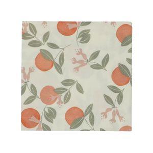 Servetten, papier, sinaasappels, 33 x 33 cm
