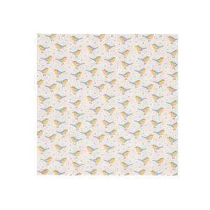 Servetten,  papier, vogeltjes geel, 33 x 33 cm