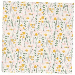 Servetten, papier, wit met gele veldbloemen, 33 x 33 cm
