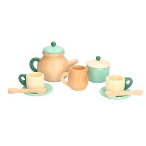 Service à thé, bois, 3+