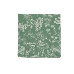 Serviette, Bio-Baumwolle, grün mit Kräuternmotiv