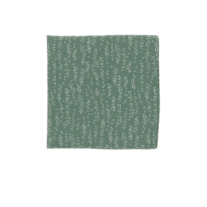 Serviette, Bio-Baumwolle, grün  mit Tropfenmuster, 40 x 40 cm