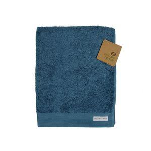 Serviette, coton bio, bleu-gris, 50 x 100 cm