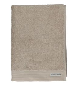 Serviette, coton bio, taupe clair, 50 x 100 cm