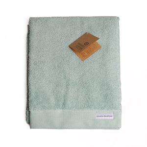 Serviette, coton bio, vert céladon, 50 x 100 cm