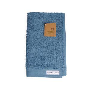 Serviette d'invité, coton bio, bleu-gris, 30 x 50 cm