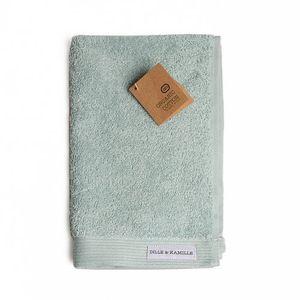 Serviette d'invité, coton bio, vert céladon, 30 x 50 cm