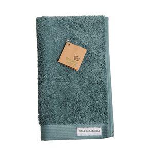 Serviette d'invité, coton bio, vert sauge, 30 x 50 cm