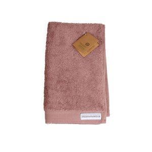 Serviette d'invité en coton bio, gris-rose