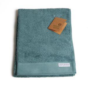 Serviette de bain, coton bio, vert sauge, 50 x 100 cm