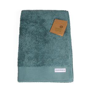 Serviette de bain, coton bio, vert sauge, 70 x 140 cm